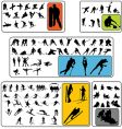 Simple winter sport silhouettes vector | Price: 1 Credit (USD $1)