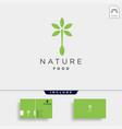 spoon nature food equipment simple flat logo vector image vector image