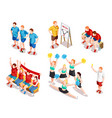 sports performer characters set vector image vector image