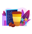 take away coffee concept vector image