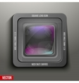 The square icon photo or video lens vector image