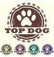 top dog vector image vector image