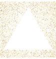 triangle frame polka dots golden star holiday vector image vector image