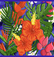 tropical seamless pattern cute background vector image vector image