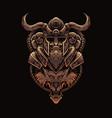 viking wolf warrior vector image