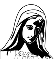 virgin mary vector image
