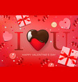 web banner for valentines day top view on vector image vector image