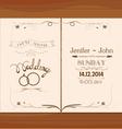 wedding invitation floral retro
