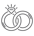 wedding rings thin line icon vector image