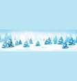 winter forest landscape snowy pine trees vector image vector image