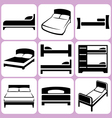 bed icons set vector image