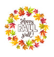 autumn leaves composition vector image