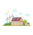 Cartoon Eco Home Exterior Facade vector image
