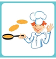 Chef with pancakes vector image