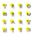 16 award icons vector image vector image