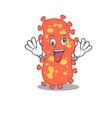 a cartoon design bacteroides having crazy face vector image vector image