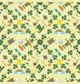 a seamless pattern 8 of irish design for st vector image