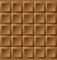 abstract background brown tiles vector image vector image