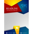 Abstract tech corporate flyer design vector image vector image