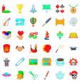art icons set cartoon style vector image vector image