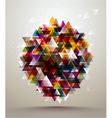 background triangle pattern vector image vector image