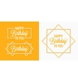 Birthday set badges labels vector image
