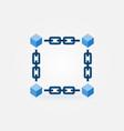 blockchain blue modern icon or element vector image