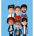 cartoon people team work professional vector image vector image