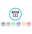 cash machine rounded icon vector image
