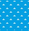 castle pattern seamless blue vector image