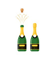 champagne bottle cartoon icon wine bottle vector image vector image