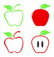 color apple icon vector image vector image