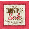 color christmas background and sale offer vector image
