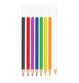 colorful graphite pencils vector image vector image