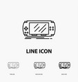 console device game gaming psp icon in thin vector image vector image