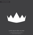 crown premium icon vector image vector image