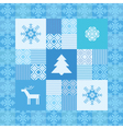 decorative seamless patchwork background christmas vector image vector image