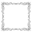decorative vintage frame on white background vector image vector image