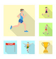 design of sport and winner logo collection vector image
