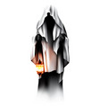 devil ghost character holding a lamp vector image