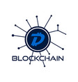 digibyte blockchain logo graphic dgb digital vector image vector image