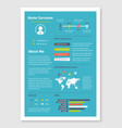document resume cv in a4 format vector image