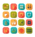 flat farm icon set vector image vector image