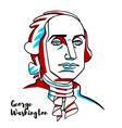 george washington portrait vector image