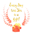 Greeting Card with Golden Lettering vector image vector image
