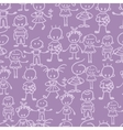 Group of children seamless pattern background vector image vector image