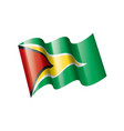 guyana flag on a white vector image