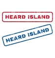Heard Island Rubber Stamps vector image vector image