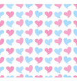 hearts seamless patterns vector image