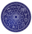horoscope and astrology circle zodiac vector image